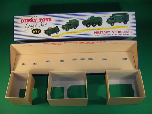 Dinky Toys #699 Military Vehicles (1) - Gift Set containing #674, #641, #676 & #621 models.
