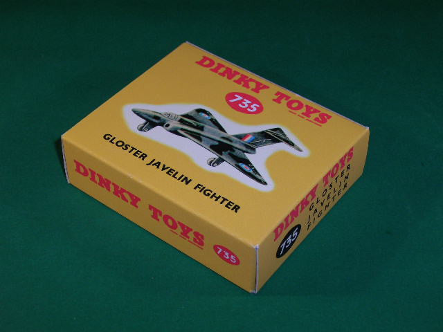Dinky Toys #735 Gloster Javelin Fighter.