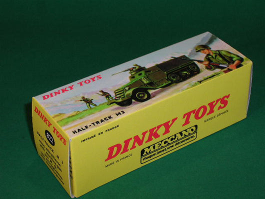 French Dinky Toys #822 Half-Track M 3 - avec Mitrailleuse.