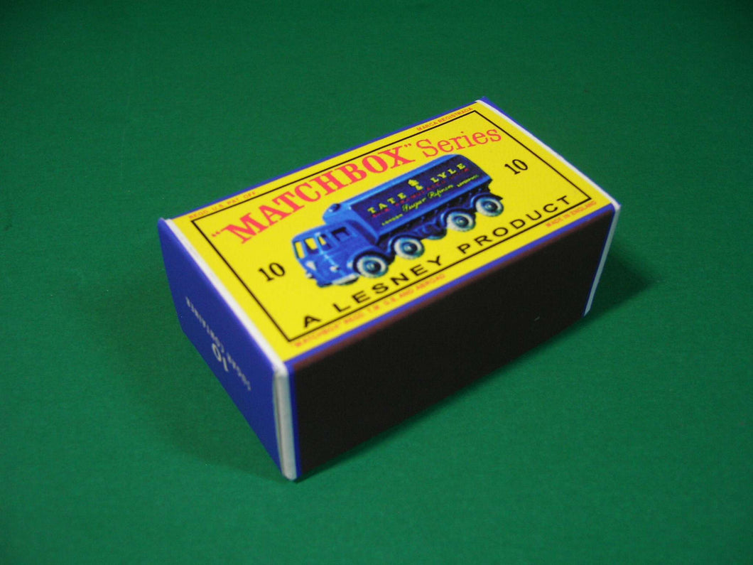 Matchbox 1-75 Regular Wheels #10b Sugar Container (Foden).