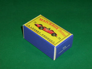 Matchbox 1-75 Regular Wheels #73b Ferrari Racing Car.