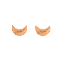 CRESCENT MOON STUDS | ROSE GOLD