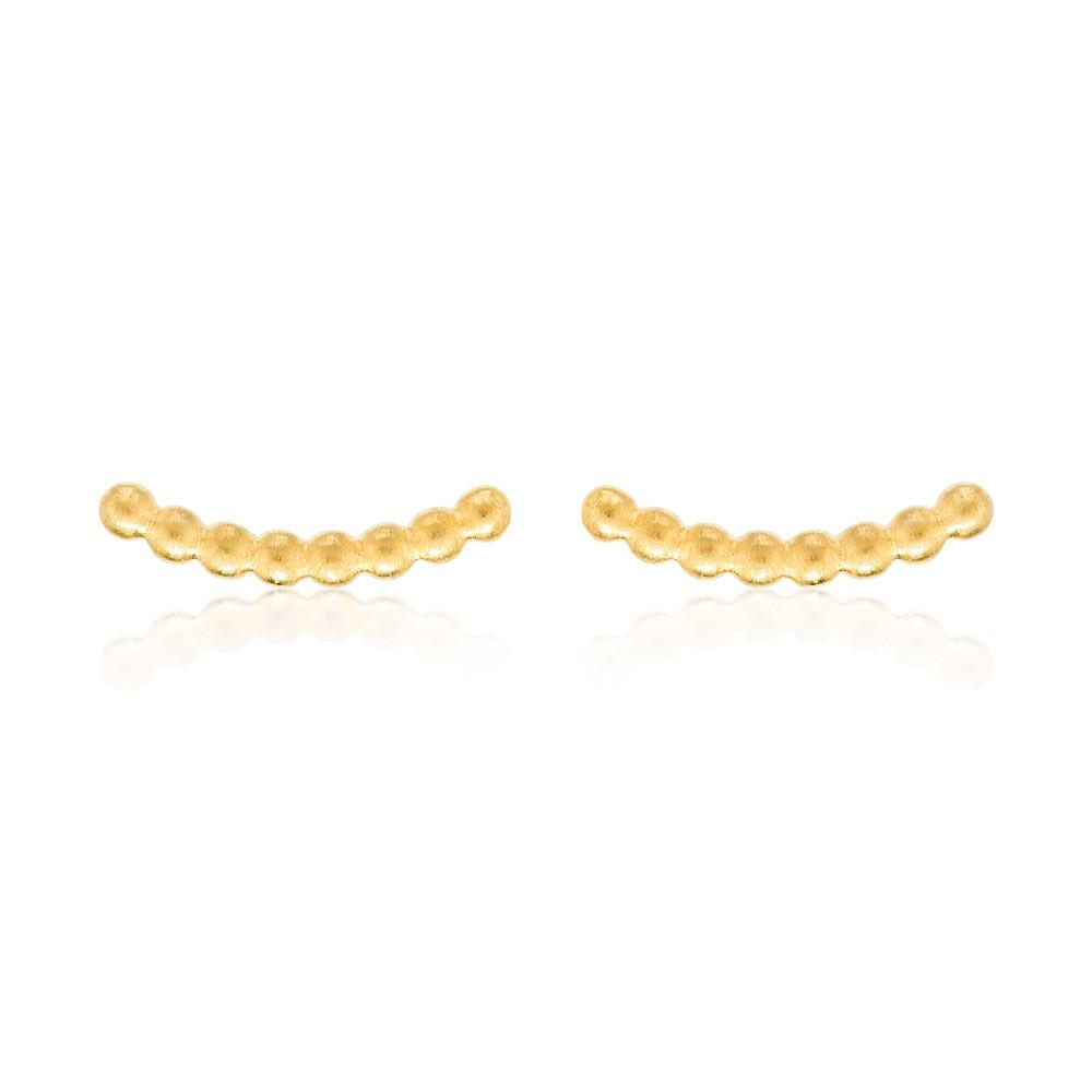 BEADED BAR STUDS | GOLD