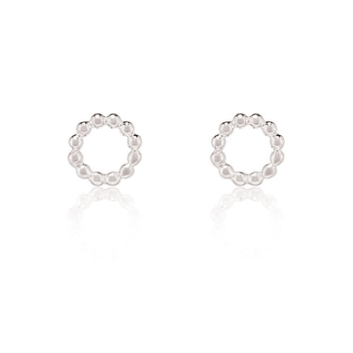 PRE ORDER | BEADED CIRCLE STUDS | SILVER