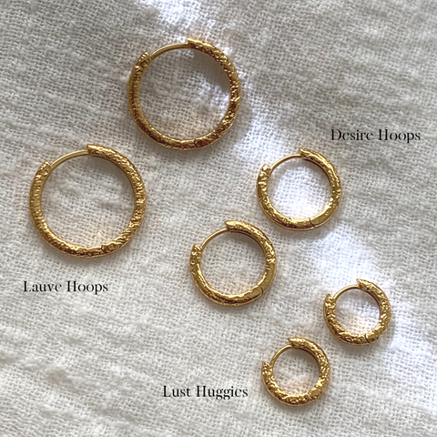 LAUVE HOOPS | GOLD (4703748653122)