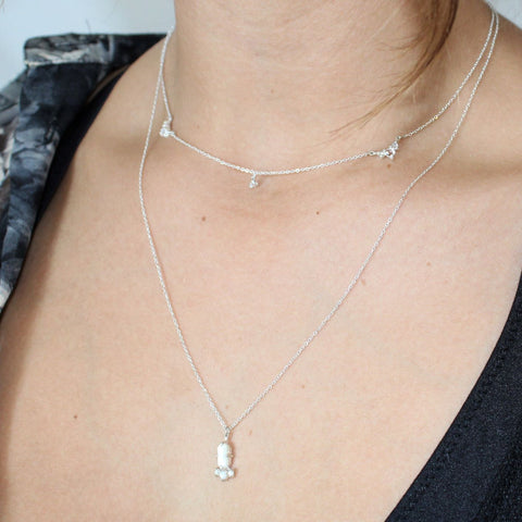 BEACON NECKLACE | SILVER