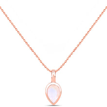 LOVE DROP NECKLACE | ROSE GOLD