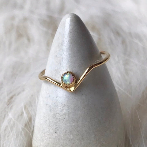 OPAL ARC RING | GOLD