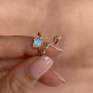 MOONSTONE SWEETHEART RING | GOLD