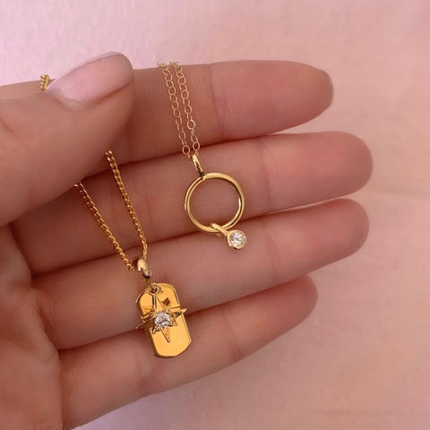 SMALL ETERNITY NECKLACE | GOLD