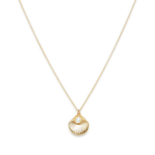 ULA SHELL NECKLACE | GOLD