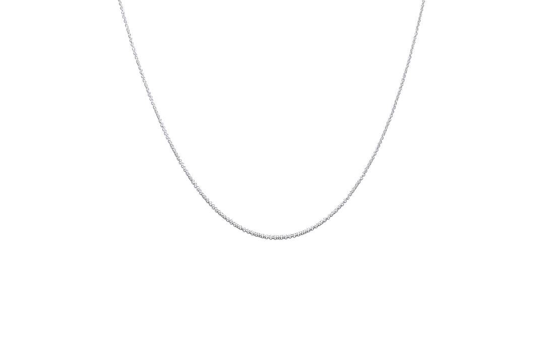 ULTRA-THIN CABLE CHOKER | SILVER