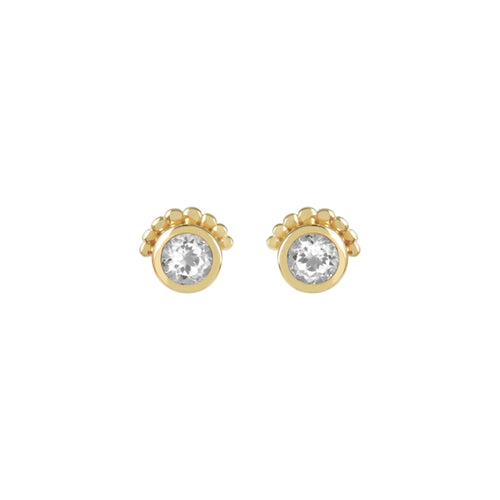 TOPAZ THEA EARRINGS | GOLD
