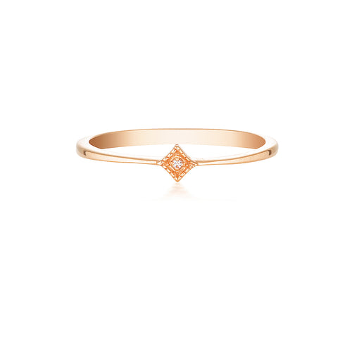 STARLIGHT PINKY RING | ROSE GOLD