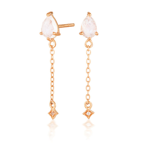 VEGA DROP EARRINGS | ROSE GOLD