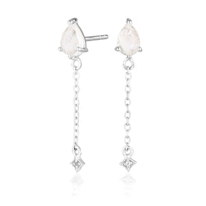 VEGA DROP EARRINGS | SILVER (1750592061506)