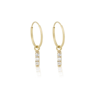 CZ HOOP EARRINGS | GOLD