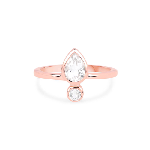 TOPAZ EMPOWER RING | ROSE GOLD