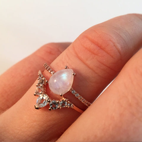 ANGELS TEARDROP RING | ROSE GOLD