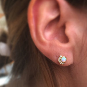 parisian sunset studs