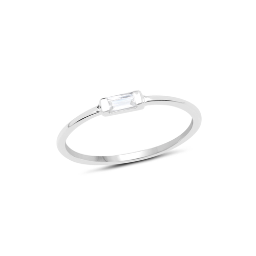 TINY BAGUETTE RING | SILVER