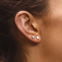 NEW MOON STUDS | ROSE GOLD