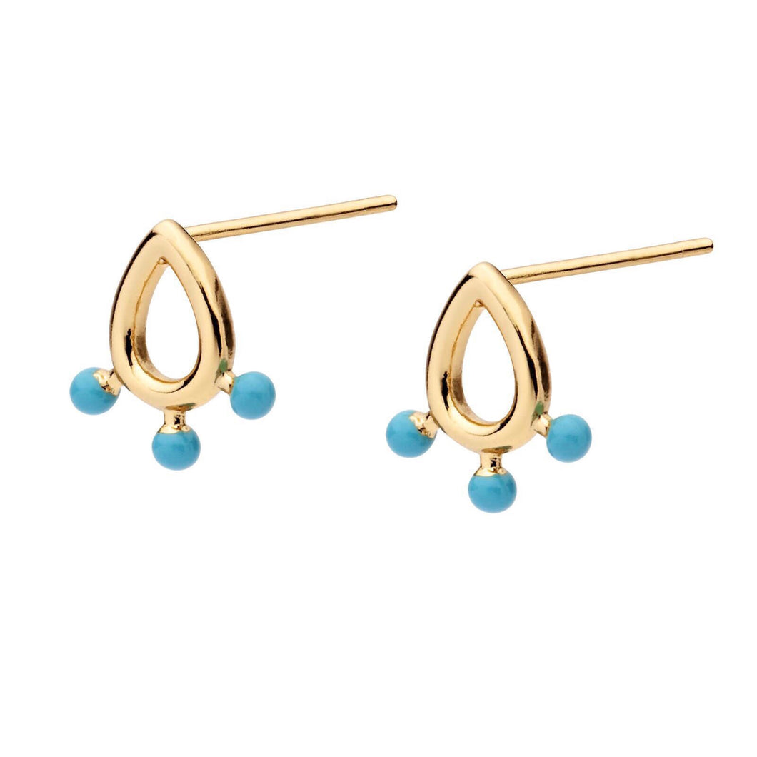 AQUA WATERS EARRINGS | GOLD