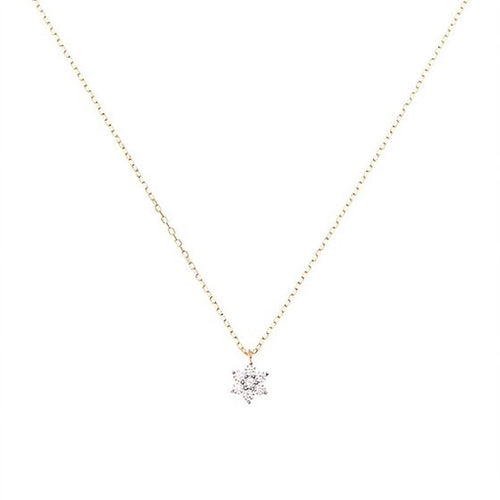 CZ FLOWER NECKLACE | GOLD