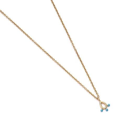 AQUA WATERS NECKLACE | GOLD