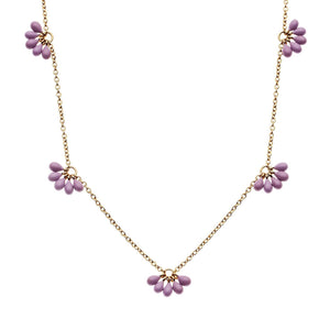 FORGET ME NOT NECKLACE LAVENDER | GOLD