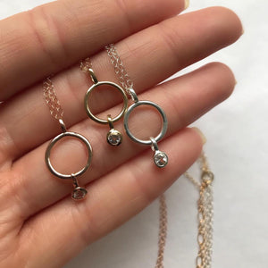 SMALL ETERNITY NECKLACE | ROSE GOLD