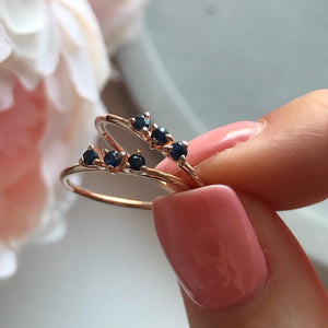 BLACK GARNET DUCHESS RING | ROSE GOLD