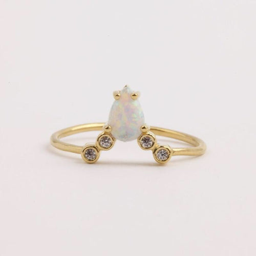 gold opal ring la kaiser jewellery