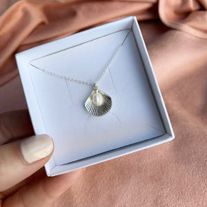 ULA SHELL NECKLACE | SILVER