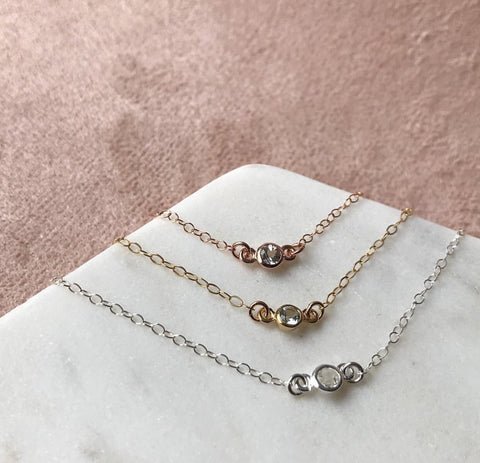 TINY DROP BRACELET | ROSE GOLD
