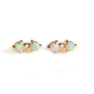 TRIPOD LOVE STUDS | GOLD
