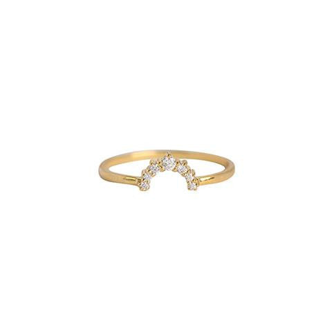 CZ RAINBOW RING | GOLD