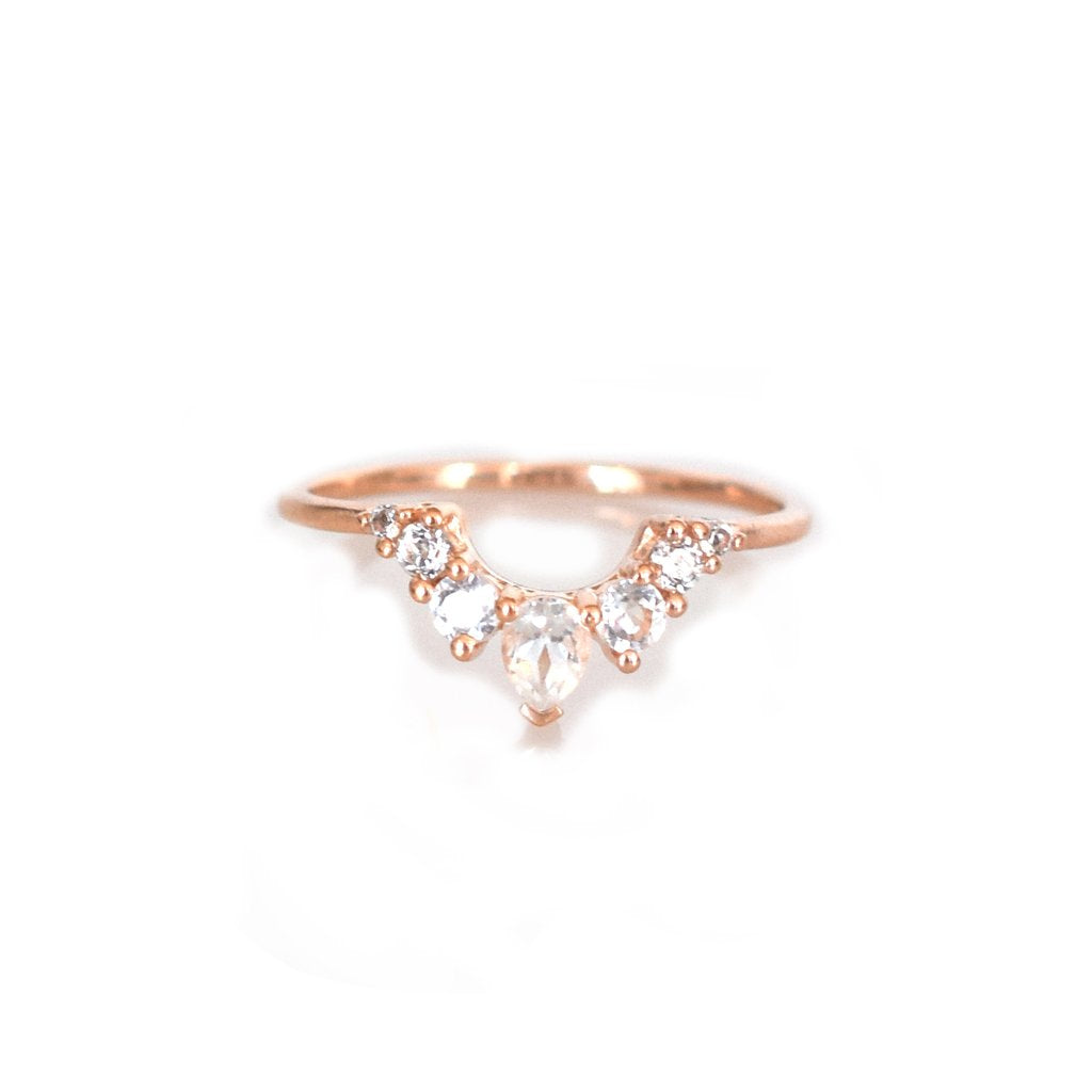 ANGELS ARC RING | ROSE GOLD