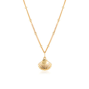 SCALLOP SHELL NECKLACE | GOLD (4724388855874)