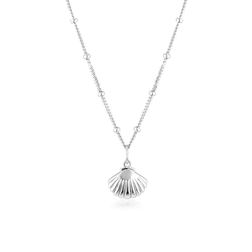 SCALLOP SHELL NECKLACE | SILVER (4724389806146)