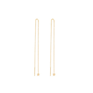 STAR THREAD EARRINGS | GOLD