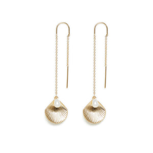 ULA THREAD EARRINGS | GOLD