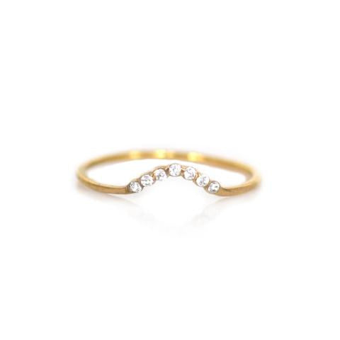 TOPAZ ARC RING | GOLD