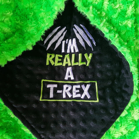 I'm Really A T-Rex 30x36 Ready To Ship Blanket