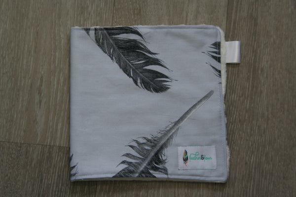 """Feathers Fly"" Burp Cloth"