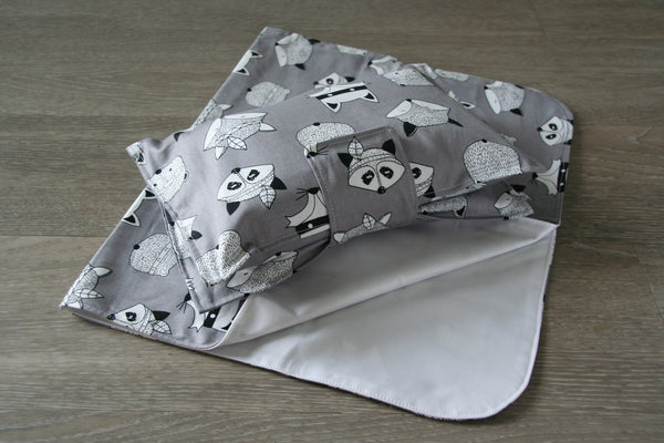 """Woodland Creature"" Nappy Wallet & Change Mat"