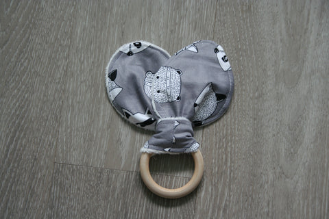 """Woodland Creatures"" Bunny Ear Teething Ring"