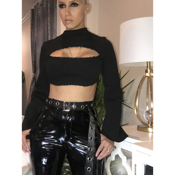 latex pants belt included