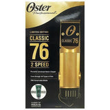Oster Professional Limited Edition 2-Speed Gold Classic 76® Clipper with gold plated #000 blade