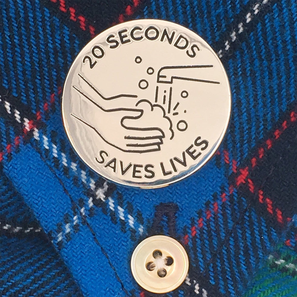 20 Seconds Saves Lives Handwashing Pin